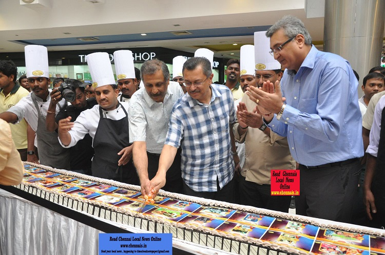 The French Loaf, India's largest bakery chain has once again made a mark, by creating the Longest Photo Cake in the country at The Forum Vijaya Mall