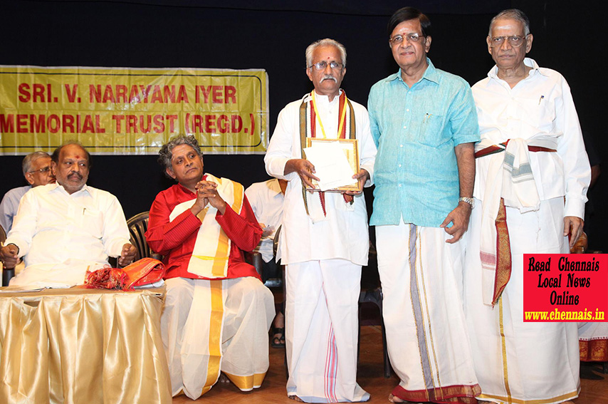 "Sri K Narayanan was honoured with ""Kala Seva Rathna"""